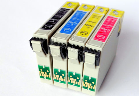 1 Full Set Compatible Epson T0715 (Replaces Epson T0711-14 Cheetah Cartridges)