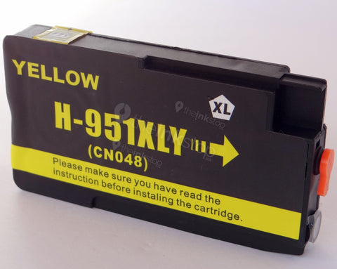 Compatible HP 951 XL YELLOW HIGH CAPACITY Ink Cartridge (CHIPPED+INK LEVEL)