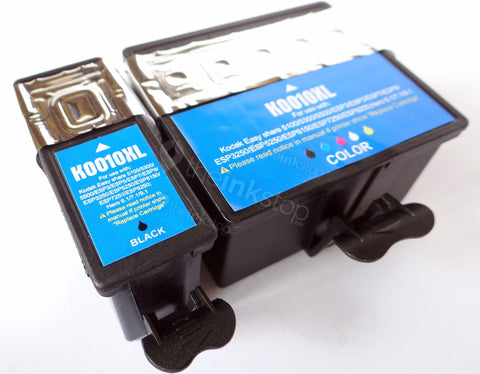 1 FULL SET Compatible KODAK 10XL BLACK and 10XLX; COLOUR Ink Cartridges