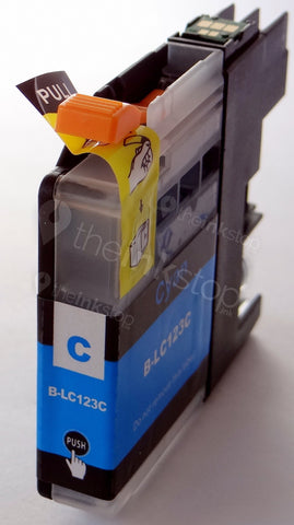 Compatible BROTHER LC123C (new chip) CYAN Ink Cartridge