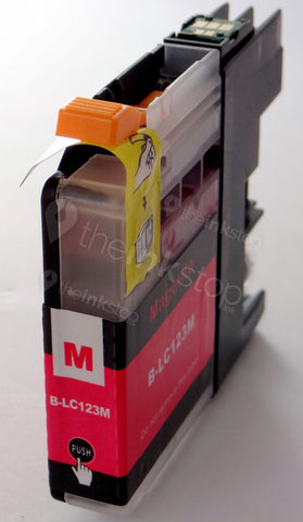 Compatible BROTHER LC123M (new chip) MAGENTA Ink Cartridge