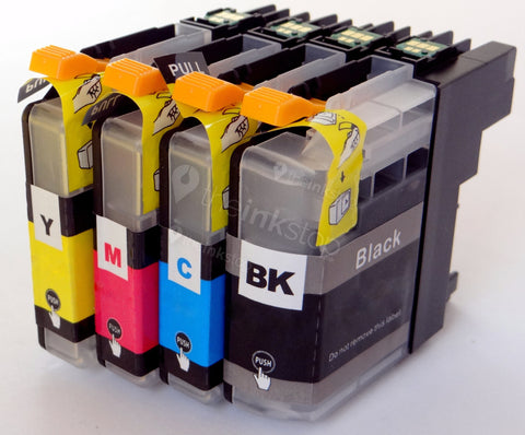 1 FULL SET Compatible BROTHER LC3219XL BK,C,M,Y Ink Cartridges