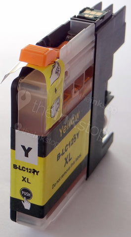 Compatible BROTHER LC123Y (new chip) YELLOW Ink Cartridge