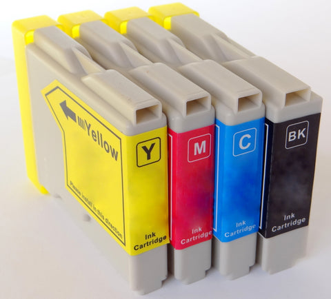 1 FULL SET Compatible BROTHER LC1000 BLACK, CYAN, MAGENTA,YELLOW Ink Cartridge