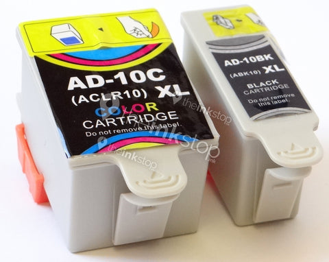 1 FULL SET Compatible ADVENT ABK10 Black and ACLR10 Colour Ink Cartridge