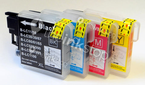 1 FULL SET Compatible BROTHER LC1100XL High Capacity - 4 Colour  Ink Cartridge