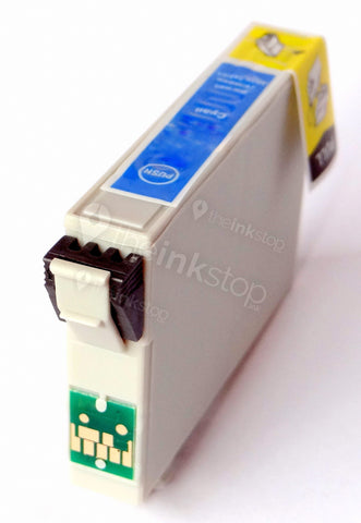 Compatible EPSON T0552 CYAN Ink Cartridge (CHIPPED + INK LEVEL)