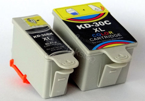 1 FULL SET Compatible KODAK 30XL BLACK & 30XL COLOUR HIGH CAPACITY Ink Cartridges