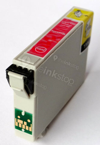 Compatible EPSON T0613 MAGENTA Ink Cartridge (CHIPPED + INK LEVEL)
