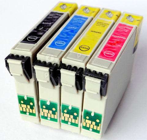 1 FULL SET Compatible EPSON T0556 (T0551/2/3/4) Ink Cartridges (CHIPPED + INK LEVEL)