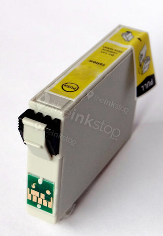 Compatible EPSON T0554 YELLOW Ink Cartridge (CHIPPED + INK LEVEL)