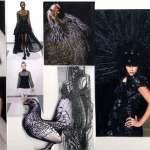 Feathers collection mood board.