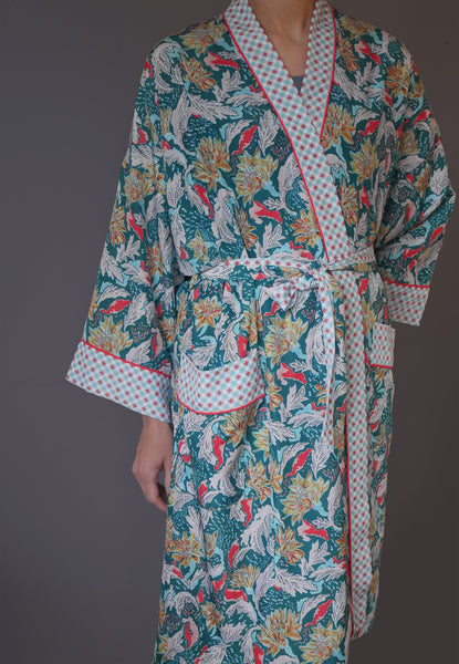 Chrysanthemum Dressing Gown
