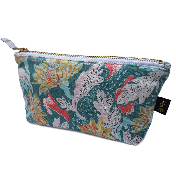 Chrysanthemum Print Makeup Bag