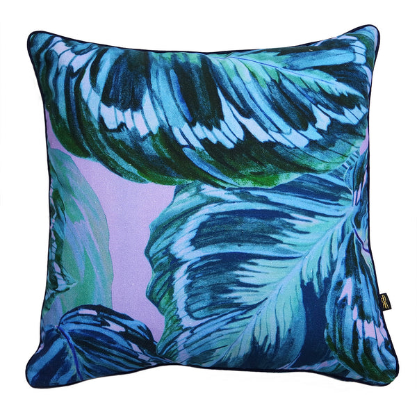 Feather Leaf Lilac Cushion