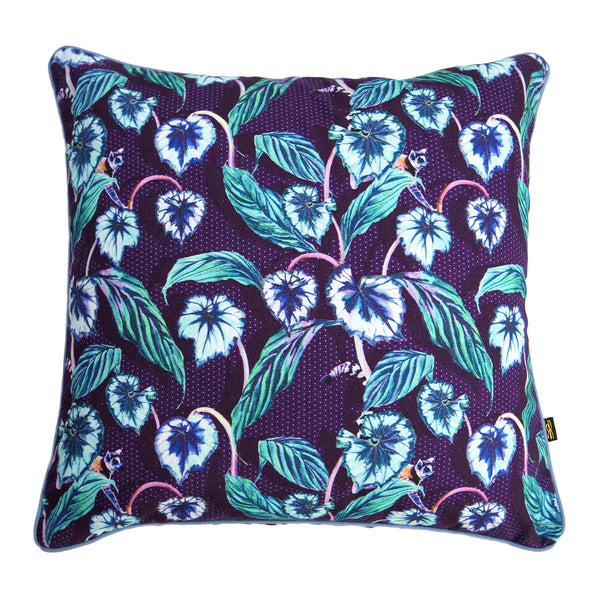 Leafy Lemur Navy Cushion