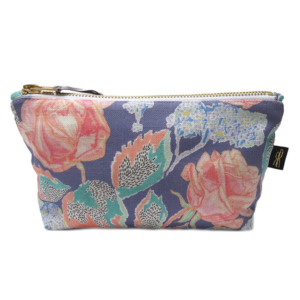 Rose Print Makeup Bag
