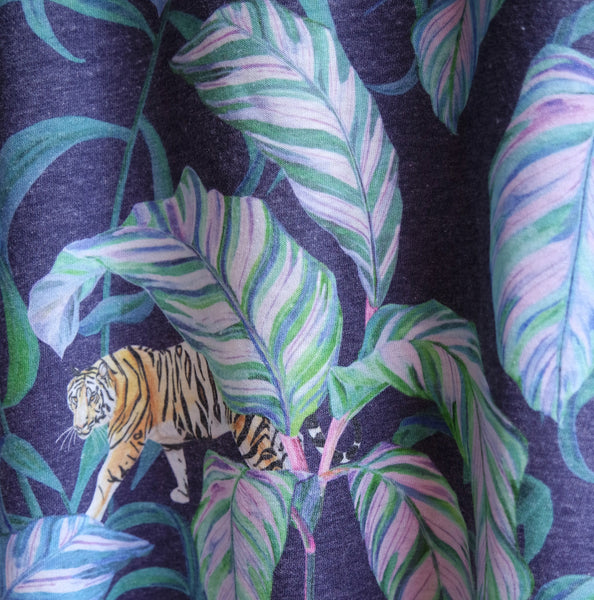 Tiger Vine T-shirt Navy