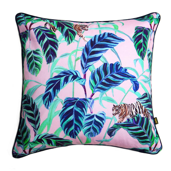 Tiger Vine Pink Cushion