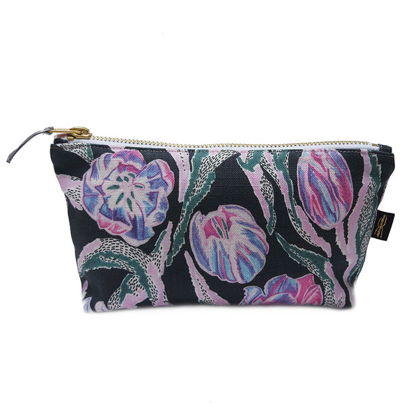 Tulip Print Makeup Bag