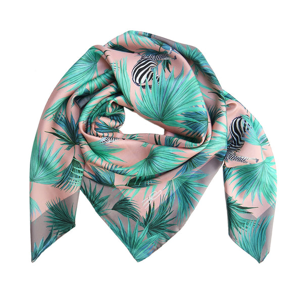 Zebra Fan Peach Scarf