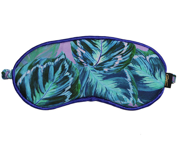 Feather Leaf Lilac Silk Eye Mask
