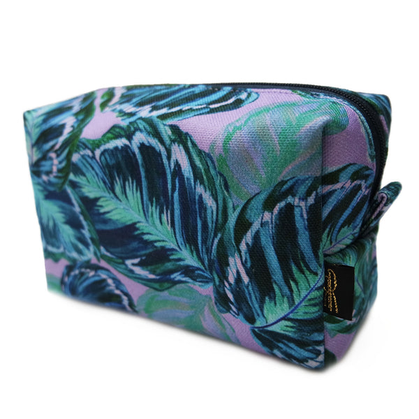 Feather Leaf Lilac Makeup Bag