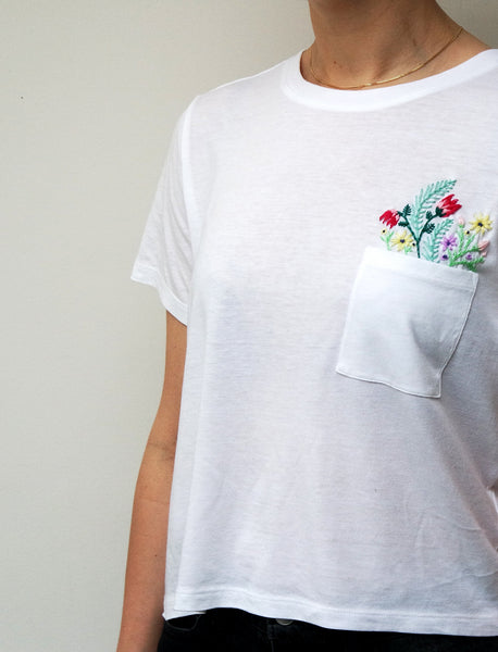 Floral Bloom Pocket T-shirt