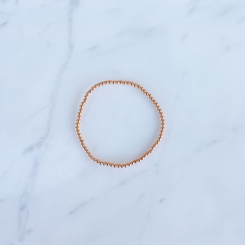 2.5mm Rose Gold Filled Beaded Bracelet
