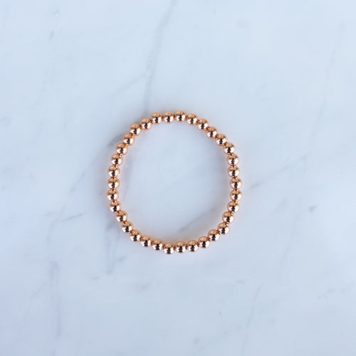 5mm Rose Gold Filled Beaded Bracelet