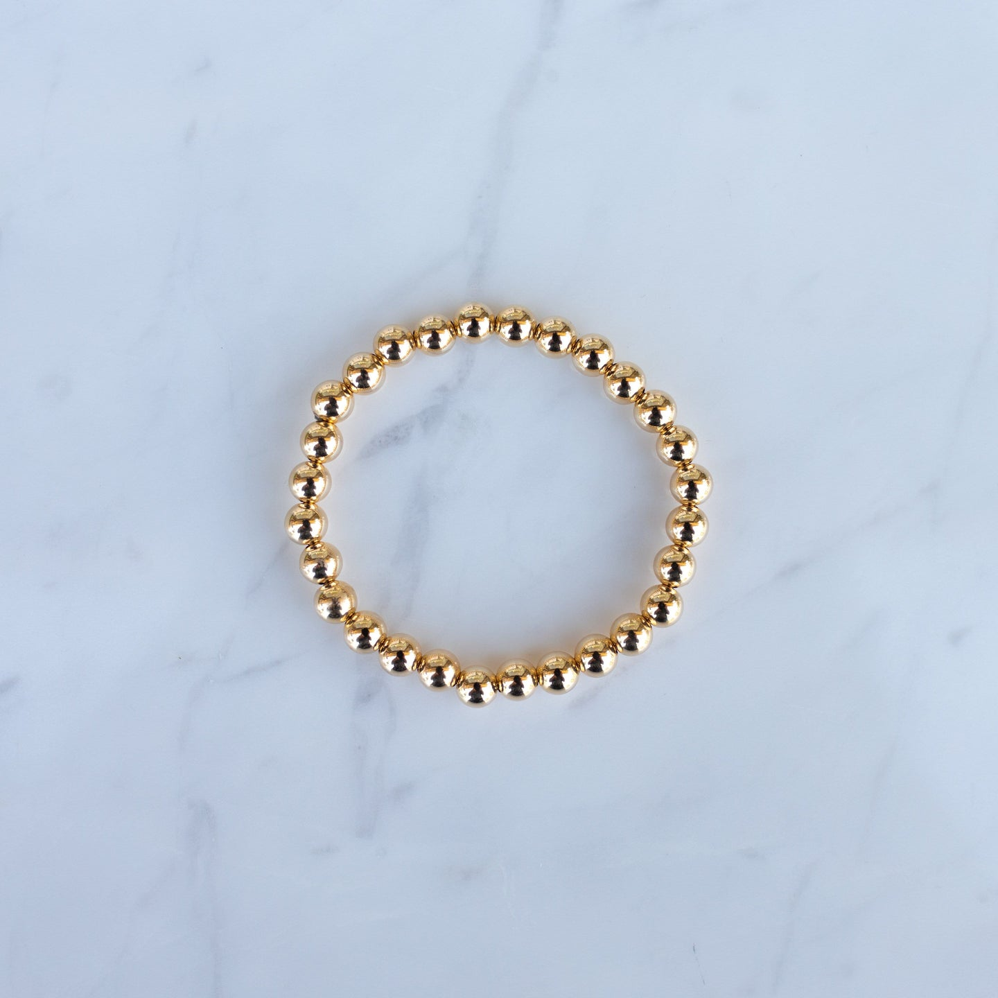 5mm Yellow Gold Filled Beaded Bracelet