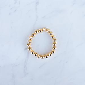 8mm Yellow Gold Filled Beaded Bracelet