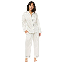 Load image into Gallery viewer, Classic White Luxe Pima Cotton Pajama Set