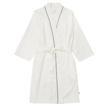 Load image into Gallery viewer, Classic White Luxe Pima Kimono Robe