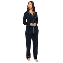 Load image into Gallery viewer, Midnight Pima Knit Cotton Pajamas