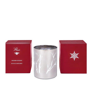 Modern Holiday Silver Candle