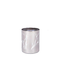 Load image into Gallery viewer, Modern Holiday Silver Candle