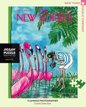 Load image into Gallery viewer, Flamingo Photographer 500 Piece Jigsaw Puzzle