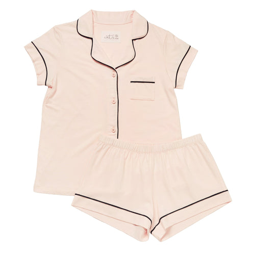 Pink Moment Pima Knit Cotton Pajama Short Set