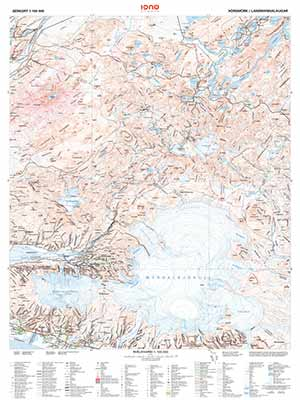 Hiking map Landmannalaugar