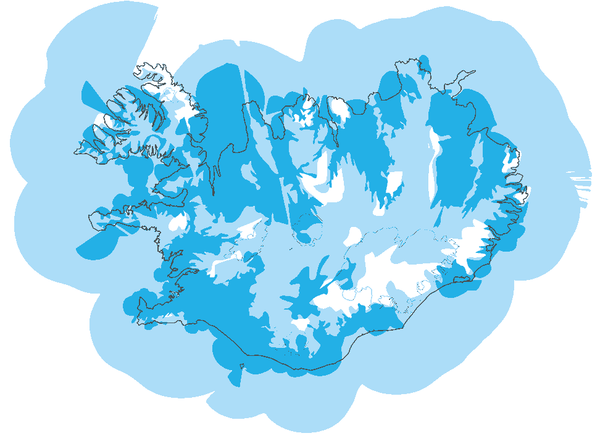 Iceland mobile coverage map 2017