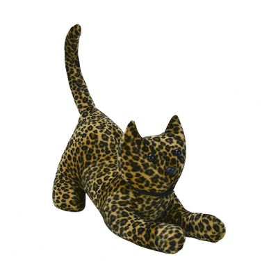 Beautiful doorstops of cats.  Colour available in leopard.