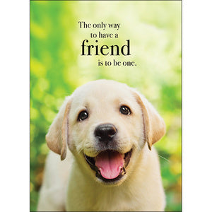 Affirmation Card - The only way to have a friend is to be one.