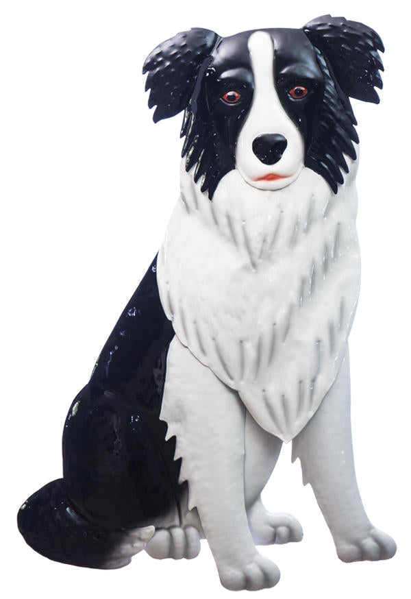 Border Collie metal wall hanging.