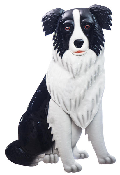 Border Collie metal wall hanging. Painted both size so can hang outside, great for any Border Collie lover.