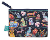 Dog Park - Beautiful designed with fun artistry, these cotton pouches are fantastic addition. They can be used for a cosmetic pouch, cables & charger pouch, pen and pencil case or just for notes and coins. 20cm x 15cm.
