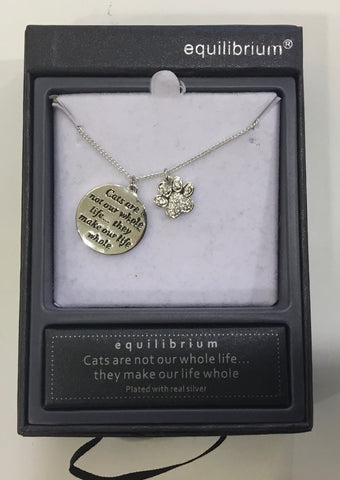 Equilibrium Necklace - Cat are not our whole life they make our life whole
