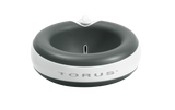 Torus - Charcoal 2 L filter bowl - great for travel - Water stored inside the TORUS™ walls passes through our unique filter system as it automatically dispenses whenever your pet wishes to drink.