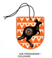 Design by Leonard - Air freshener - Cologne - Retro Kangaroo design.