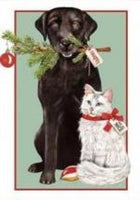 Black & White  MLT315 - Christmas tag pack of 6
